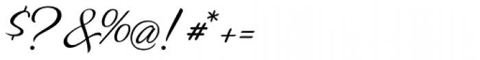 Zar2 Script Thin Font OTHER CHARS