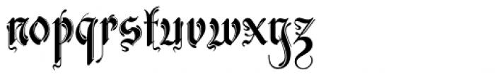 Zarlino Standard Alternate Font LOWERCASE