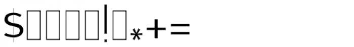 Zawiya Thin Font OTHER CHARS