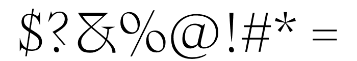 Zangezi Variable Font OTHER CHARS