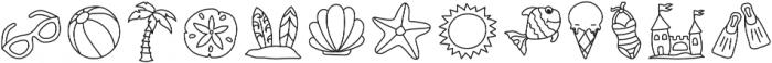 ZDoodlesSummer Regular otf (400) Font UPPERCASE