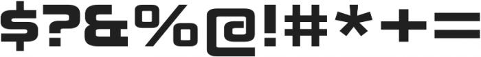 Zekton Extended Black otf (900) Font OTHER CHARS