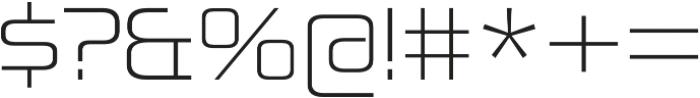 Zekton Extended Light otf (300) Font OTHER CHARS