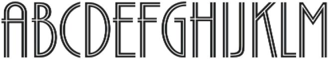 Zelda-NarrowInline Light otf (300) Font LOWERCASE