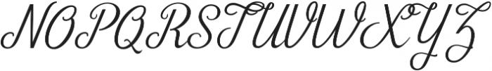 Zelda otf (400) Font UPPERCASE