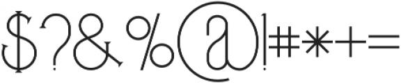 Zelda regular otf (400) Font OTHER CHARS