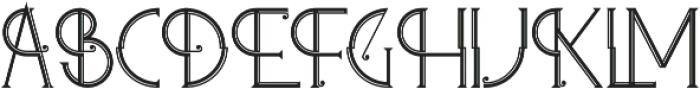Zelda regular otf (400) Font UPPERCASE