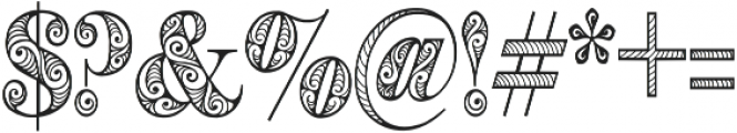 Zengo otf (400) Font OTHER CHARS
