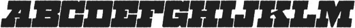 Zennat Pro One Italic otf (400) Font UPPERCASE