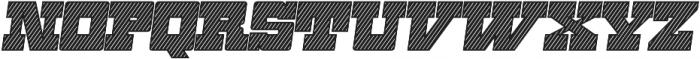 Zennat Pro Two Italic otf (400) Font UPPERCASE