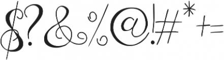 Zenyth otf (400) Font OTHER CHARS