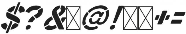 Zephyr Stencil Italic otf (400) Font OTHER CHARS
