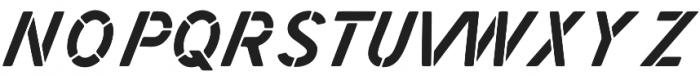 Zephyr Stencil Italic otf (400) Font UPPERCASE
