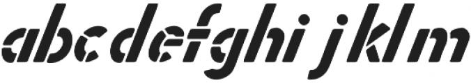 Zephyr Stencil Italic otf (400) Font LOWERCASE