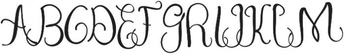 Zerica ttf (400) Font UPPERCASE