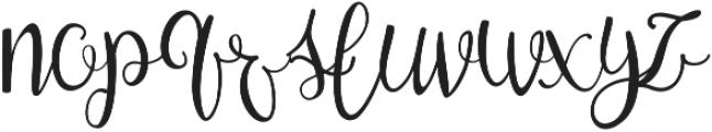 Zerica ttf (400) Font LOWERCASE