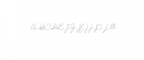 Zefanya - Line TTF Font UPPERCASE