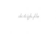 Zefanya - Line TTF Font LOWERCASE