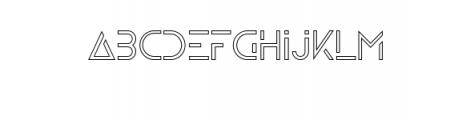 Zelda OUTLINE.ttf Font LOWERCASE