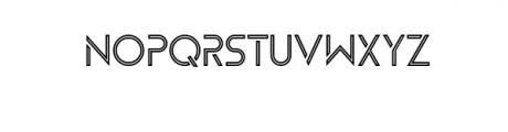 Zelda Typeface (Boldline) Font UPPERCASE