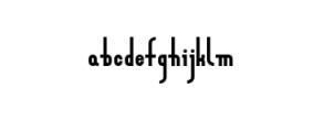 Zeraf Bold.otf Font LOWERCASE