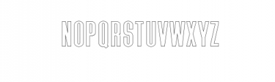 Zeuty Sans Outline.ttf Font UPPERCASE
