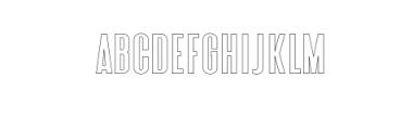 Zeuty Sans Outline.ttf Font LOWERCASE