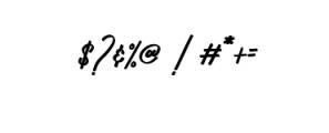 Zeuty Script.ttf Font OTHER CHARS