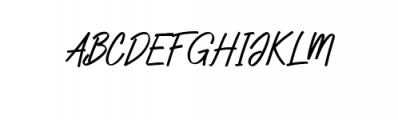 Zeuty Script.ttf Font UPPERCASE