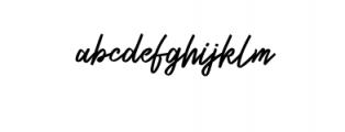 Zeuty Script.ttf Font LOWERCASE