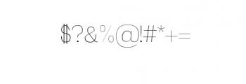 Zevida-Thin.otf Font OTHER CHARS