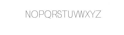 Zevida-Thin.otf Font UPPERCASE