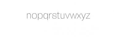 Zevida-Thin.otf Font LOWERCASE