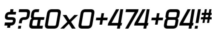 Zekton Bold Italic Font OTHER CHARS