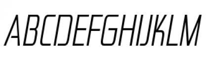 Zekton Condensed Light Italic Font UPPERCASE