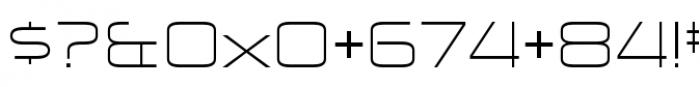 Zekton Extended Light Font OTHER CHARS