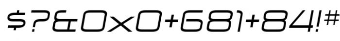 Zekton Extended Regular Italic Font OTHER CHARS
