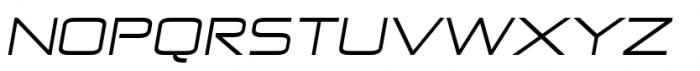 Zekton Extended Regular Italic Font UPPERCASE
