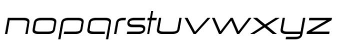 Zekton Extended Regular Italic Font LOWERCASE