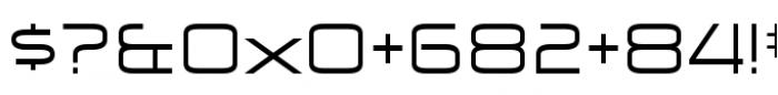 Zekton Extended Regular Font OTHER CHARS