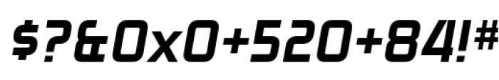 Zekton Heavy Italic Font OTHER CHARS