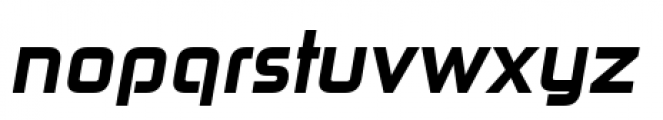 Zekton Heavy Italic Font LOWERCASE