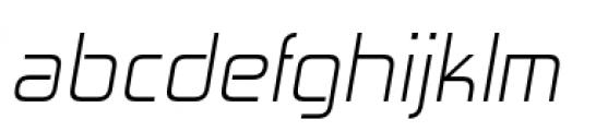 Zekton Light Italic Font LOWERCASE