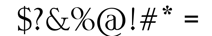 ZEMBOOD Font OTHER CHARS