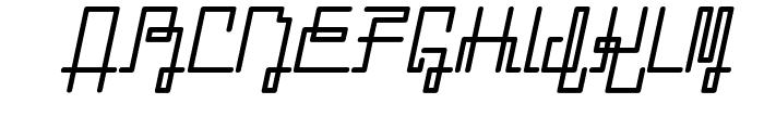 ZETUEcript Oblique Font UPPERCASE