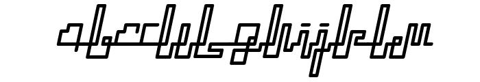 ZETUEcript Oblique Font LOWERCASE