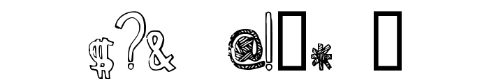 Zebra irregular Font OTHER CHARS