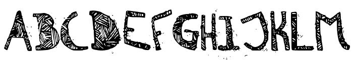 Zebra irregular Font UPPERCASE