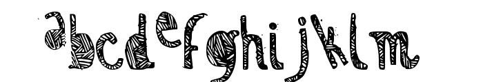 Zebra irregular Font LOWERCASE