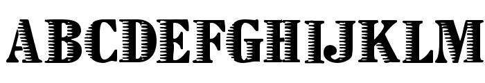 Zebraesq Font UPPERCASE